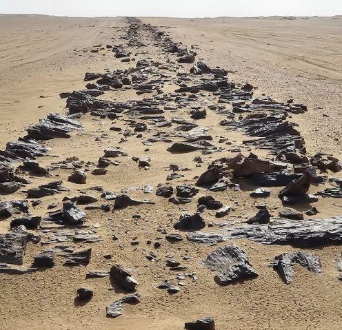 Route de Gizeh en Egypte